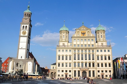 Augsburg - Mayors Office and Perlach Tower